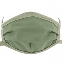 Wiederverwendbare Maske elastischen Bändern – Mundbedeckung olive-grün
