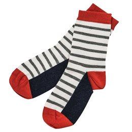 Kinder Socken weiss geringelt
