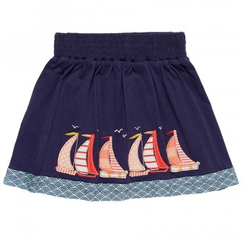 Mädchenrock Segelboot Aufnäher navy