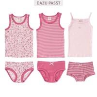 Vorschau: Slip Mädchen Bio rosa gestreift