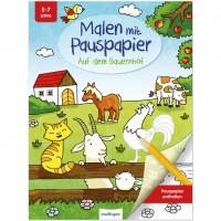 Malbuch mit Pauspapier für Kinder ab 5 Jahre - Bauernhof