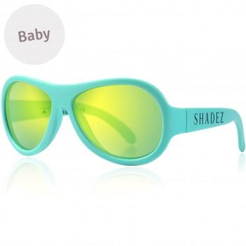 Baby flexible Sonnenbrille 0-3 Jahre uni türkis polarisiert