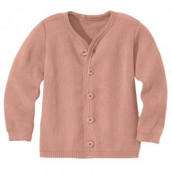 Rosa Strickjacke warm und leicht