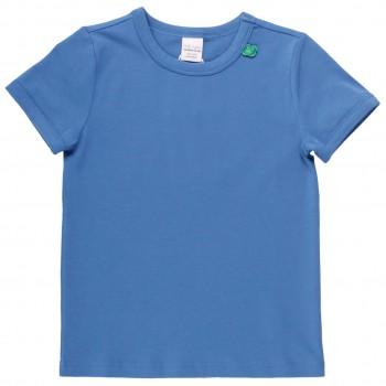 Shirt kurzarm Basic in blau