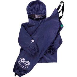 Kinder Regenanzug  SET hochwertig & ungefüttert lila navy