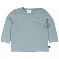 Dehnbares Basic Langarmshirt in hellblau