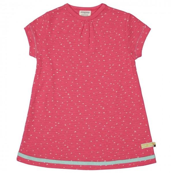 Sommerkleid Waffelstruktur Herzchen pink