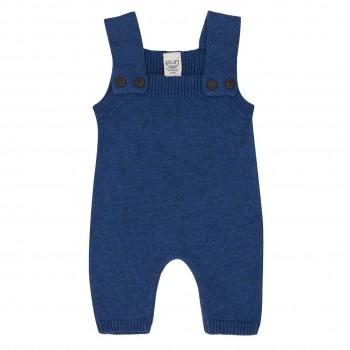Strick Trägerhose Wolle in blau