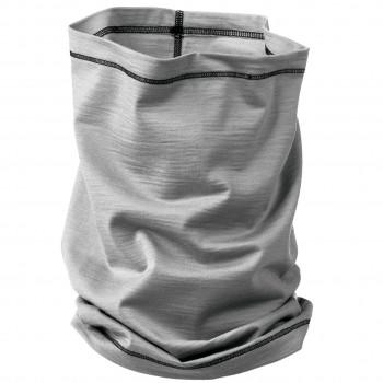 Schlauchschal 2in1 Unisex Wolle Seide grau