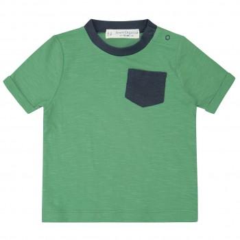 Grünes Shirt kurzarm Brusttasche