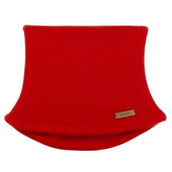 Schlauchschal aus Schurwolle Fleece rot
