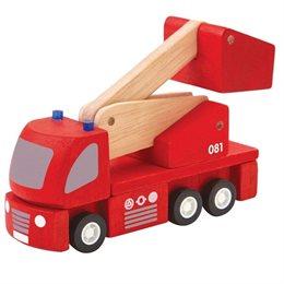 Holzfahrzeug Feuerwehr mit Hebebühne