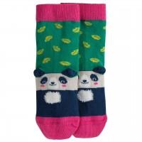 Mädchen Panda Socken pink-grün