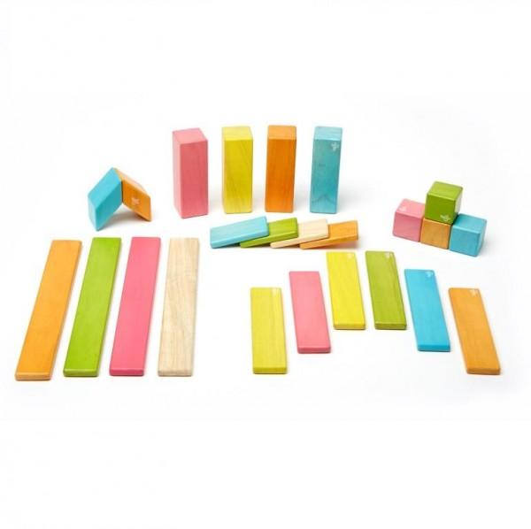 Magnet-Holzbauklötze-Tints 24-teilig