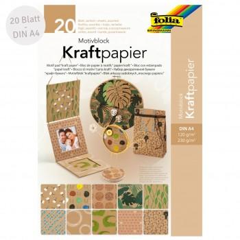 Motivblock Kraftpapier – 20 Blatt Motivkarton & -papier bunt
