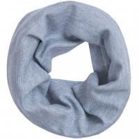 Baumwolle Wolle Seide Schlauchschal hellblau