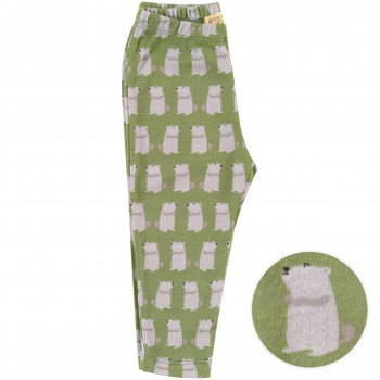 Dehnbare Leggings Murmeltiere grün