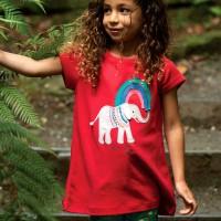 Leichtes kurzarm Shirt - Elefanten Aufnäher