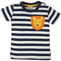 Löwen T-Shirt Aufnäher navy Streifen