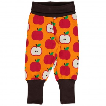 Krabbelhose Bündchen Äpfel orange