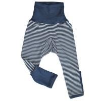 Vorschau: Wolle Seide mitwachsende Kinderhose mit Umschlagbund