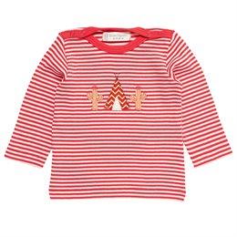 Baby Shirt breite Kopföffnung rot