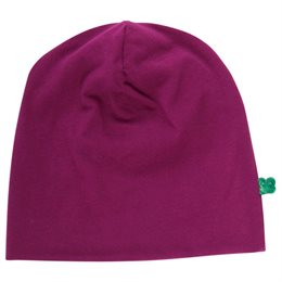Basic Beanie Bio bordeaux