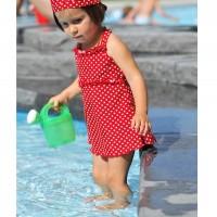 Badeanzug mit Röckchen und breiten Trägern - süß