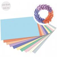 Tonpapier pastell DIN A4 100 Blatt recycelt