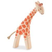 Giraffe klein gebeugt Holzfigur 13 cm hoch
