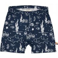 leichte Meereswelt Shorts dunkelblau