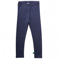 Leggings aus Schurwolle in navy