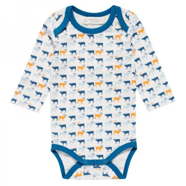 Rentier Baby Body langarm - dehnbarer Qualität ohne Elastan
