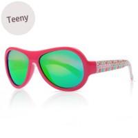 Sonnenbrille 7-16 Jahre schadstofffrei Blätter Print pink