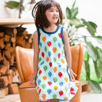 Sommerliches Kleid ohne Arm Luftballons hellblau