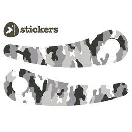 "Sticker ""Camo grau"" für Wishbone recycled black bikes"