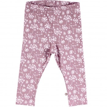 Edle Leggings elastisch Wildblumen in lila