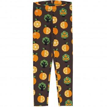 Jersey Leggings Orangen braun