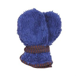 Bio Teddyplüsch Baby Handschuhe - kornblau