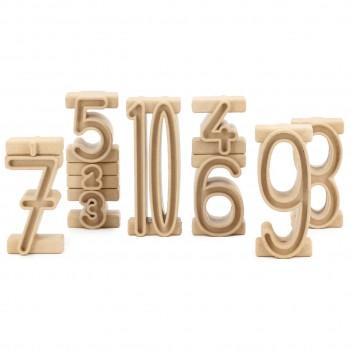 Stapelzahlen 100er Zahlenraum 34 Stück natur