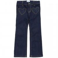 Jeans Schlaghose mit Herztaschen