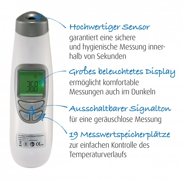 3in1 SoftTemp Baby Infrarot-Thermometer - kontaktlos Messen!