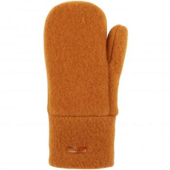 Kinder Handschuhe Wolle karamell-braun