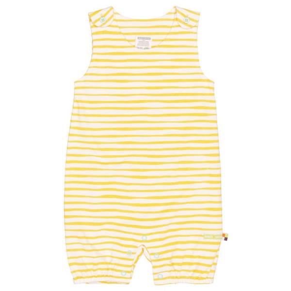 Sommerstrampler Streifen gelb