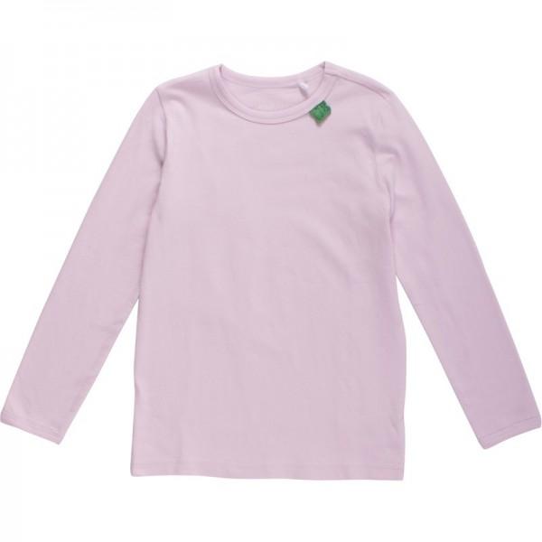 Glattes dehnbares Basic Shirt für Mädchen - ganz hell rosa