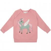 Sweat Pullover Pegasus Druck rosa