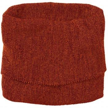 Strick Woll Schlauchschal orange-bordeaux klein ab 1 Jahr