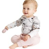 Marmoroptik seidiger Babybody neutral