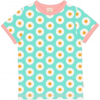 Gänseblümchen Shirt kurzarm hellblau
