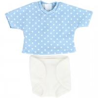 Puppenkleidung: Windelhose und T-Shirt (blau)
